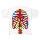 イラスト解剖学教室の虹みたいな肋骨 Full graphic T-shirts