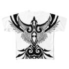 トライバルデザイナー鵺右衛門@仕事募集中の鳥のトライバル((ε( ° Θ ° )з)) Full graphic T-shirts