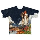 詰めろのシャトル猫【夜の部】 Full graphic T-shirts