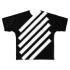 whaisonのSlashBlackStripes フルグラフィックTシャツ
