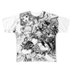 Studio MOONの飛行少女 Full graphic T-shirts