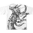 arinosの龍神フルグラフィックTシャツ