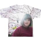 ミノリストアのyurina&Cherry blossom フルグラフィックTシャツ