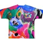 橋本京子のDOG☆HEART(Karin) Full graphic T-shirtsの背面
