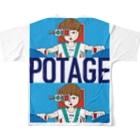 POTAGEのGUN_GIRL【POTAGE.ver】 フルグラフィックTシャツ
