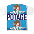 POTAGEのGUN_GIRL【POTAGE.ver】 Full graphic T-shirtsの背面