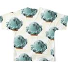 ☆自由屋本舗☆   SurrealismDifferentWorld   のチョコミントアイスコーン柄 グッズ Full graphic T-shirtsの背面
