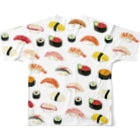 さとろくのsushiT Full graphic T-shirtsの背面