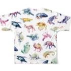 どうぶつのホネ、ときどきキョウリュウ。のどうぶつのホネ[pattern-A] Full graphic T-shirtsの背面