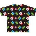 YASUKOのSETSUBUN(ブラック) Full graphic T-shirtsの背面