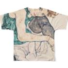 Takahashijunのエゴンシーレ1917 Full graphic T-shirtsの背面
