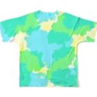 小望キナのショップのDripping Drop Full graphic T-shirtsの背面