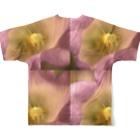クレヨン君とえんぴつ君のふうりんそう Full graphic T-shirtsの背面