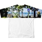 AlohaSolのAlohaSol Photo Print Full graphic T-shirtsの背面