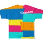 wlmのPOINTS OYABAN pop Full graphic T-shirtsの背面