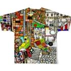 ねこぜや のROBOBO 「ボウ助ロボ マネーの行方」 Full graphic T-shirtsの背面