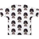 ®︎ik° 絵とかイラスト のokappa zombie Full graphic T-shirtsの背面