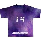 tottoの【販売済み】境川フリー/14番 Full graphic T-shirtsの背面