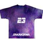 tottoの【販売済み】境川フリー/23番 Full graphic T-shirtsの背面