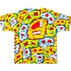 横岑竜之(よこみねたつゆき)のHappyMonster♥♥♥ Full graphic T-shirtsの背面