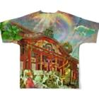 TOYOGON沖縄の天国の首里城FGT Full Graphic T-Shirtの背面