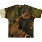 Takahashijunのエゴンシーレ ひまわり 1911 アート系 Full graphic T-shirtsの背面