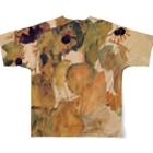 Takahashijunのエゴン・シーレ ひまわり アート系 Full graphic T-shirtsの背面