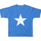大のソマリア国旗 全柄 Full graphic T-shirtsの背面
