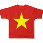 大のベトナム国旗 全柄 Full graphic T-shirtsの背面