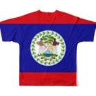 大のベリーズ国旗 全柄 Full graphic T-shirtsの背面