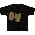 PygmyCat suzuri店の「ニャー(ブラック)」 Full graphic T-shirtsの背面