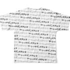 ティアティフ@LINEスタンプ&Tシャツの全方向ソーシャルディスタンス Full graphic T-shirtsの背面