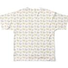 Sharroodの馬と花のTシャツ(フルグラフィックA) Full graphic T-shirtsの背面