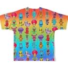 PICOPICOのピコピコオールスター レインボー Full graphic T-shirtsの背面