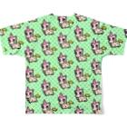 PICOPICOの甘獣ユニん子 イエロー Full graphic T-shirtsの背面