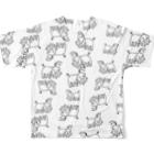 あやふ屋のあやふ屋 パターンTシャツ Full graphic T-shirtsの背面