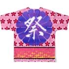 angel22のWM©︎(日本の夏🎆 Full graphic T-shirtsの背面