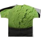 星空青井のアイス食べたい(^q^) Full graphic T-shirtsの背面