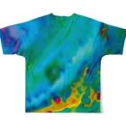 なまくらさくらのデジタルタイダイ Full graphic T-shirtsの背面