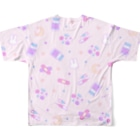 IENITY / MOON SIDEのYamikawaii Syndrome フルグラフィック #Pink Full graphic T-shirtsの背面