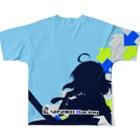 SASAKORacingのささ子レーシング2020Ver チームシャツ Full graphic T-shirtsの背面