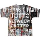 tottoのペイントグラフィック(白文字) Full graphic T-shirtsの背面
