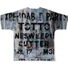 tottoのペイントグラフィック(黒文字) Full graphic T-shirtsの背面