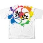 456の新虹Tシャツ Full graphic T-shirtsの背面