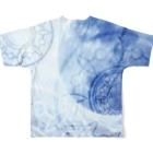 suparnaの目覚める月 Full graphic T-shirtsの背面