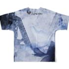 suparnaの破壊と創造 烟る街 おもてロゴ無し Full graphic T-shirtsの背面