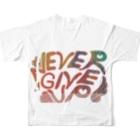 木村 紗のねばーきぶあっぷ Full graphic T-shirtsの背面