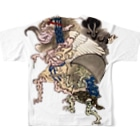 😄 SMILE  or Kill🗡の百鬼夜行絵巻 Full graphic T-shirtsの背面