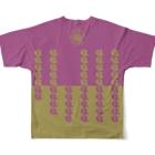 TAIYAKI INSANITYの雅鯛焼き Full graphic T-shirtsの背面