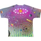 NAZONAZO-Storeのレトロ・ユニバースII Full graphic T-shirtsの背面